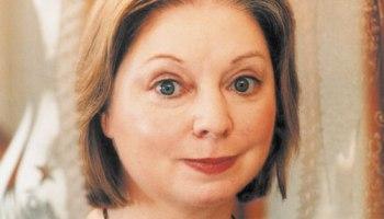 Hilary Mantel winning the Booker Prize