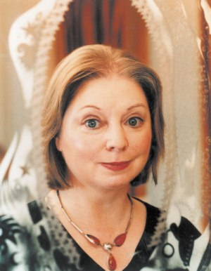 Hilary Mantel winning the Booker Prize