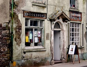 Bookshop in Laugharne, the village where Dylan Thomas wrote Under Milk Wood