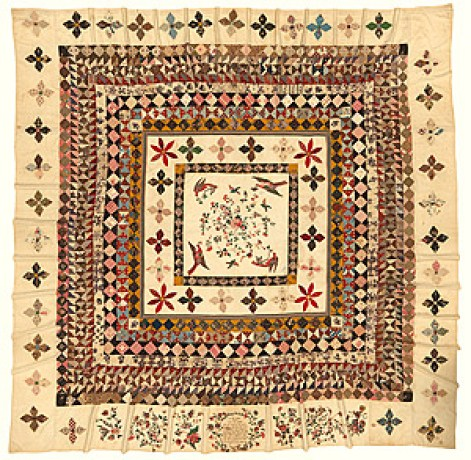 The Rajah Quilt, featured in the novel Dangerous Women by Hope Adams