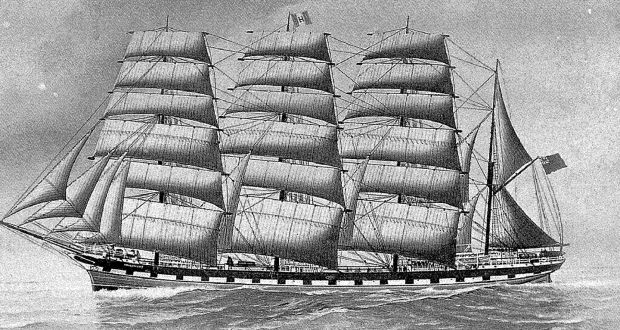 Convict ship of the kind featured in the novel Dangerous Women by Hope Adams