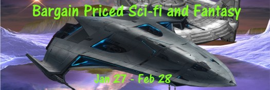 Bargain Priced Si-fi and fantasy with spaceship over ice.