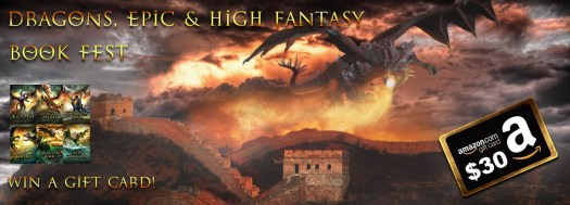 Another vomited sunset - but this one has a fortress and a dragon, so it's cool. Dragons epic and high fantasy End of 2020 Book Promotions  $30 Amazon gift card