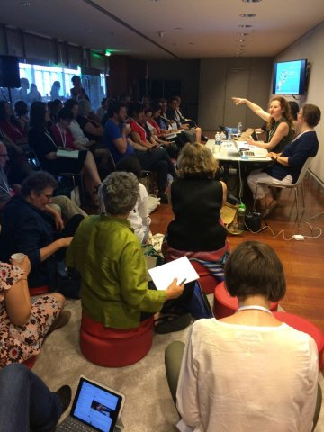Busy and stimulating panel sessions, eg 6e (photographed by Claire Squires, photo from Twitter).