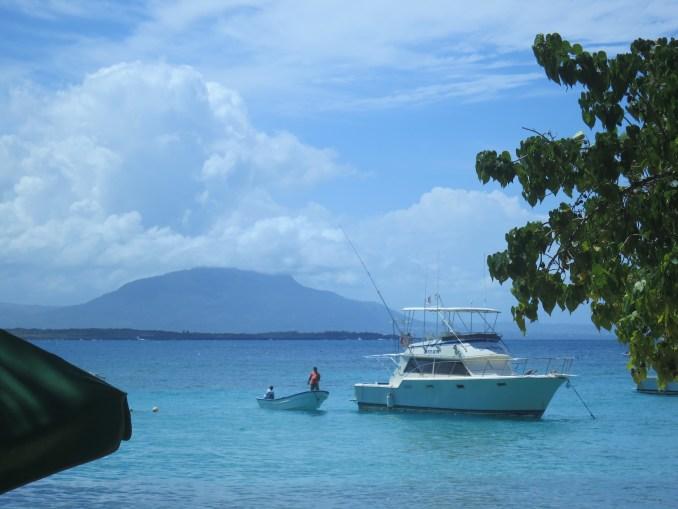 Boat at Sosua beach Dominican Republic