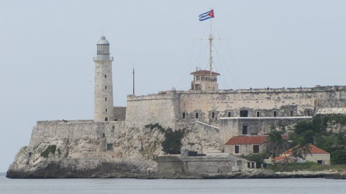 Fortress at the entrance to Havana Harbor