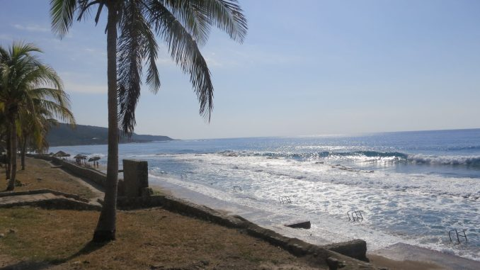 The beach east of Santiago de Cuba
