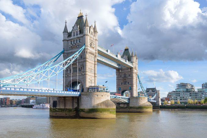 Tower bridge in London England photo
