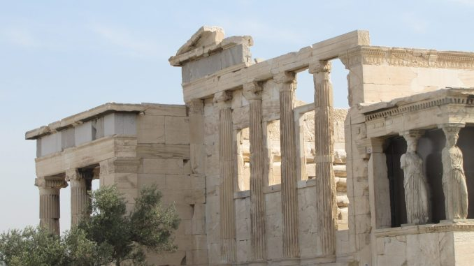 Ruins at the Acropolis in Athens