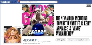 Lady Gaga en Facebook