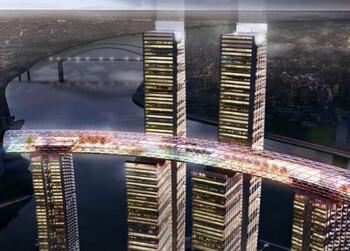 В Китае появился горизонтальный небоскрёб