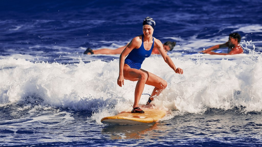 Surf school. Water sports,