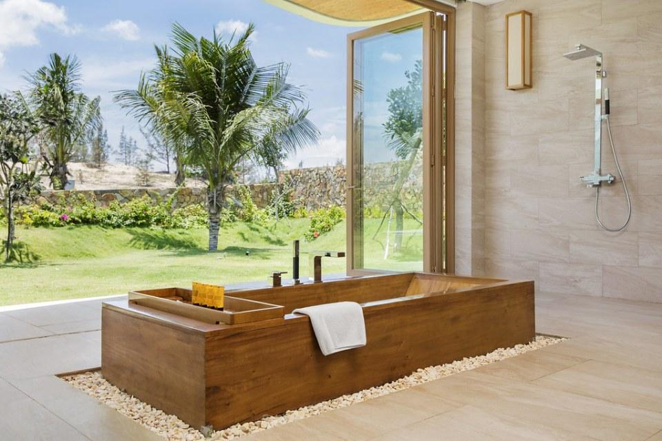 phòng tắm villa