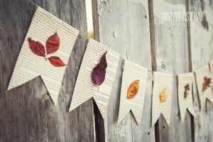 Paper banner with leaves