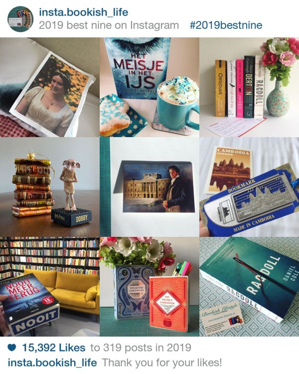Best nine 2019 Instagram Bookish Lifestyle