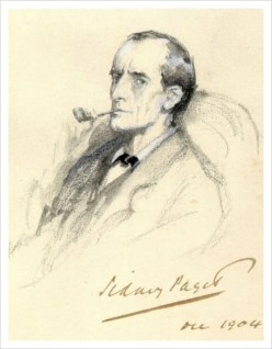 Pencil Sketch of sherlock holmes by sidney paget