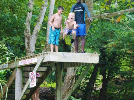 The Big Jump | Book Jamaica Excursions | bookjamaicaexcursions.com | Karandas Tours