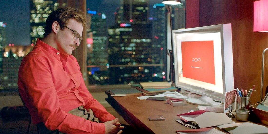 heodore Twombly played by Joaquin Phoenix installing the OS Samantha