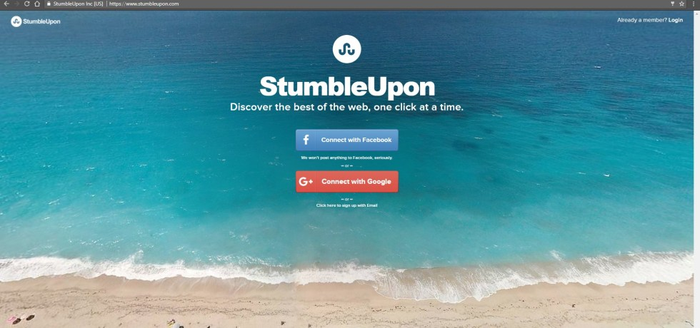 bye-bye, StumbleUpon