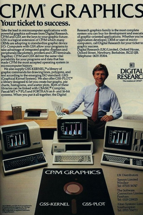 An old UK advertisement of DRI's CP/M