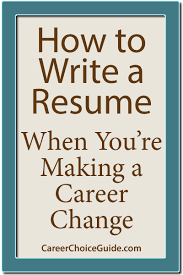 career change resume