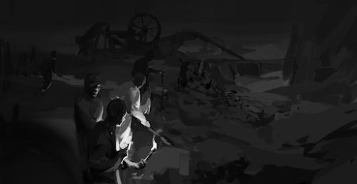 people in the dark