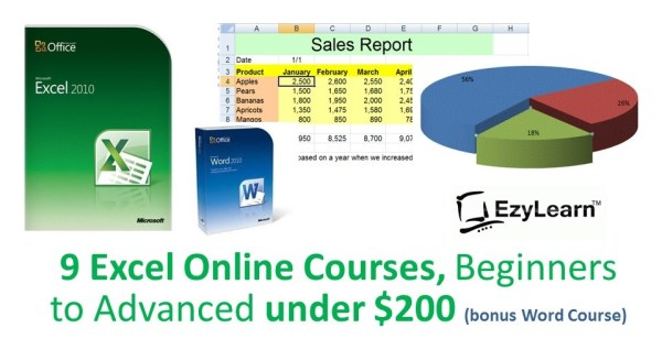 Microsoft Excel Beginners to Advanced Certificate