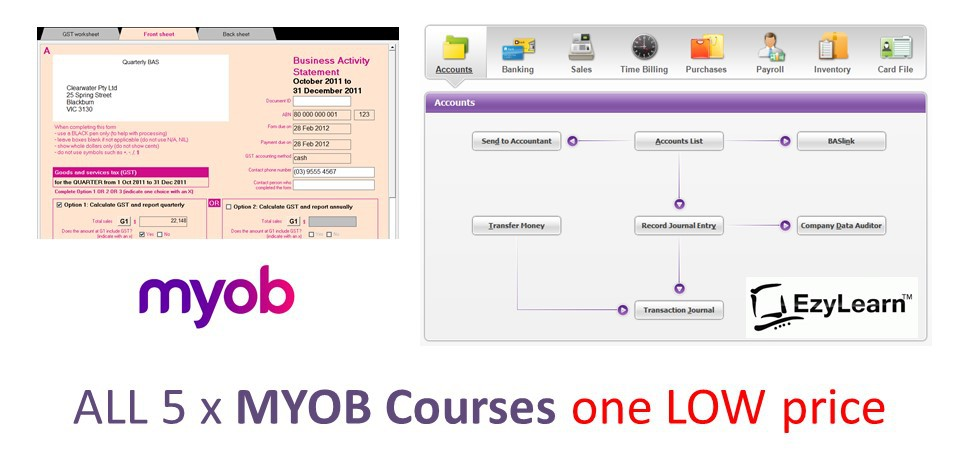 MYOB AccountRight COMPLETE Training Course Package (with Accounting Tutor)