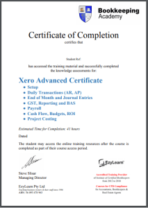 Xero Advanced Certificate Training Courses in MYOB & Xero Bookkeeping Training for CPD Points - EzyLearn Employer Recognised