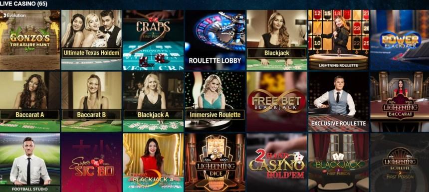 Живые игры в казино Kaboo