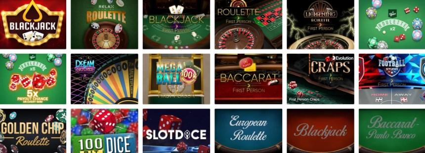 Настольные игры в казино Mr Green