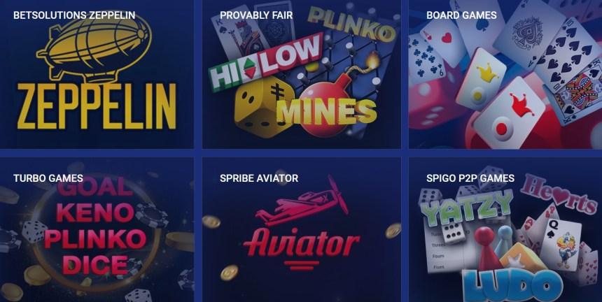 Другие игры в казино Sapphirebet