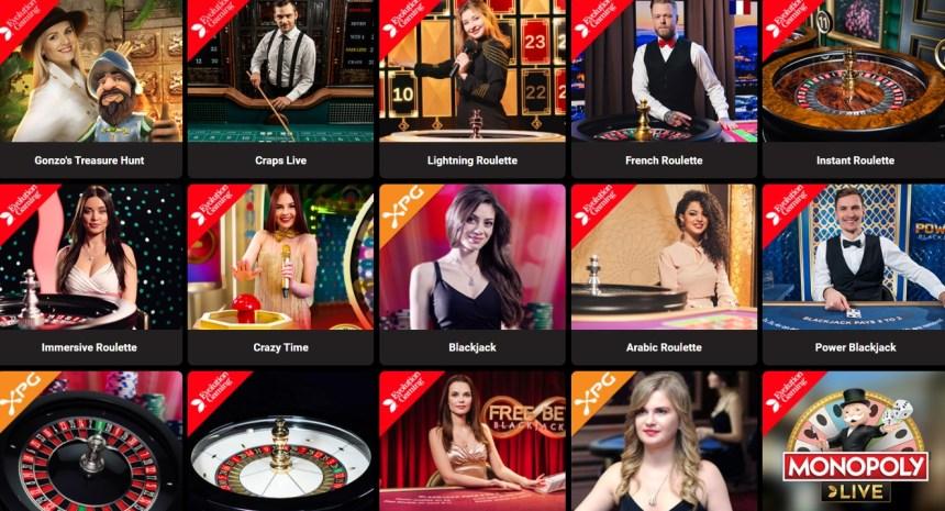 Живые игры в казино GoldenBet