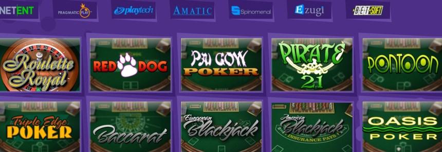 Настольные игры в казино Explosino