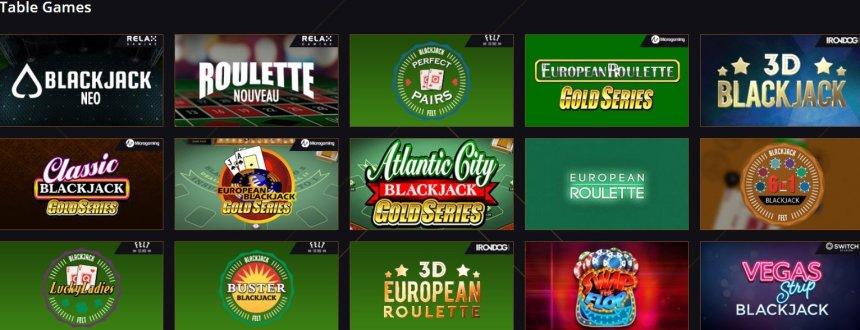 Настольные игры в казино 21 Casino