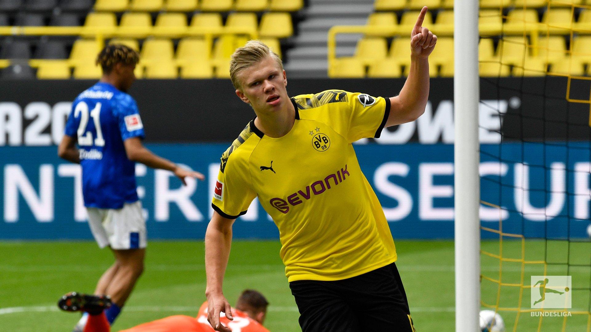 Эрлинг Холанд забил первый мяч Бундеслиги после возвращения