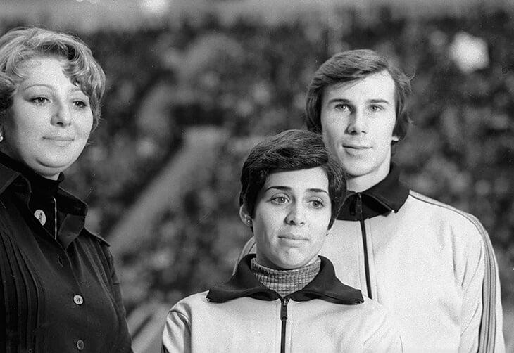 Татьяна Тарасова с подопечными: Родниной и Зайцевым