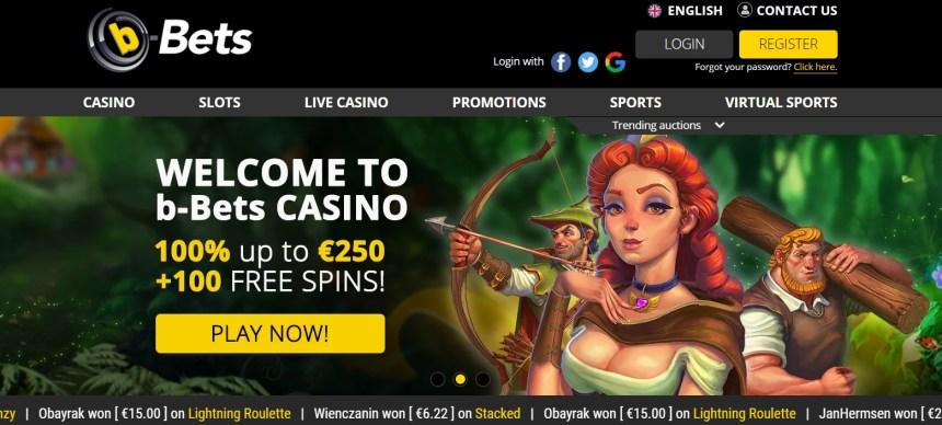 Интерфейс казино b-Bets