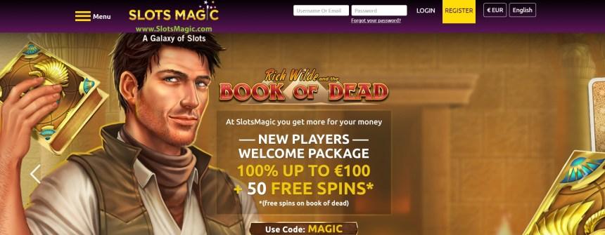 Интерфейс казино Slots Magic
