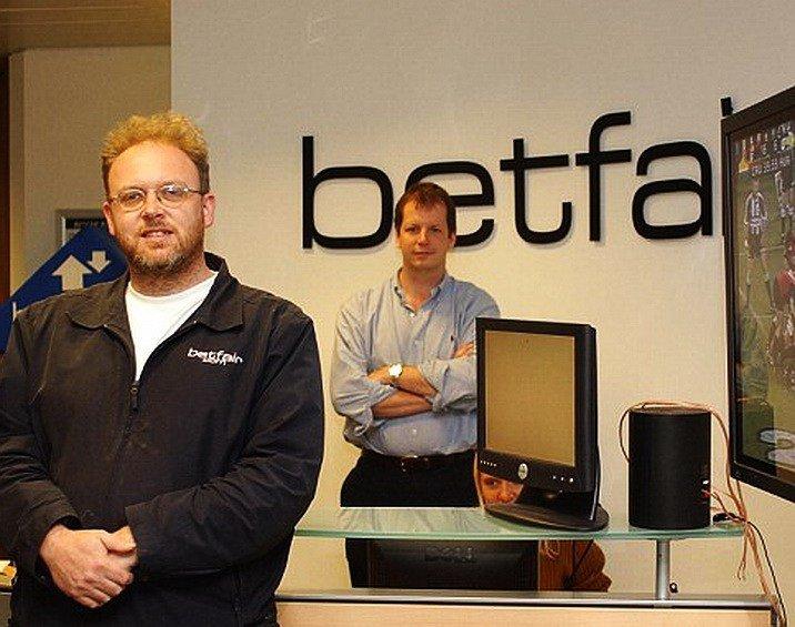 Ендрю Блек (на передньому плані) і Ед Рей, співзасновники легендарної у світі беттинга біржі ставок Betfair