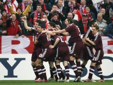«Бавария» празднует победу над «Реалом»