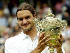 Роджер Федерер после первой победы на Уимблдоне в 2003 году