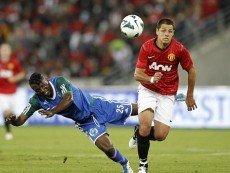 Эпизод матча между 'Амазулу' и 'Манчестер Юнайтед'