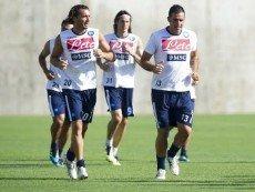 Футболисты 'Наполи' во время тренировки