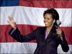 Жена Обамы организует лотерею