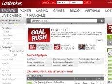 Скриншот сайта Ladbrokes