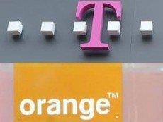 Вывески T-Mobile и Orange