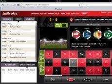 Скриншот сервиса Roulette Football на сайте Ladbrokes