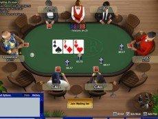 Скриншот покерной игры