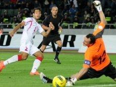 Эпизод матча между белорусами и грузинами